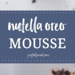 When you need a timeless, any season kind of dessert that you can serve at parties or just because, this Nutella Oreo Mousse will hit the spot every time! Made with cream cheese, Nutella and whipped cream with Oreo crumbles on the bottom, this dish is decadent and simply delicious.