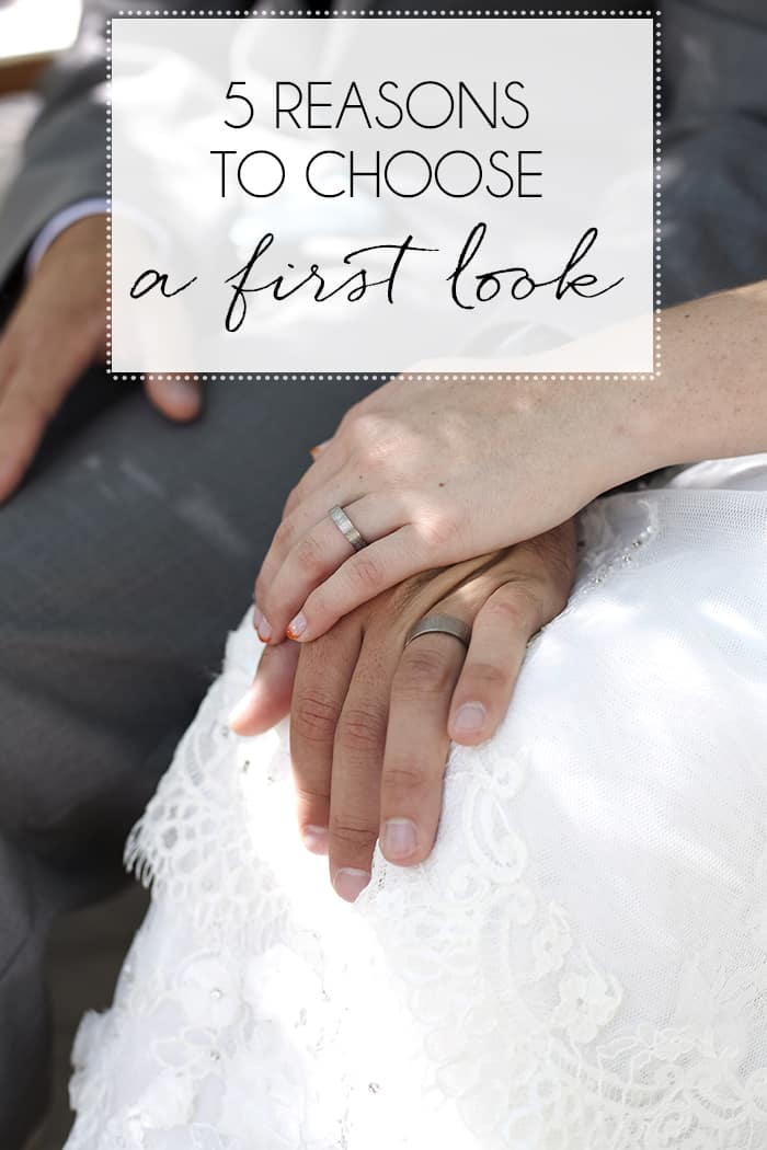 Why you should choose a first look for your wedding photography.