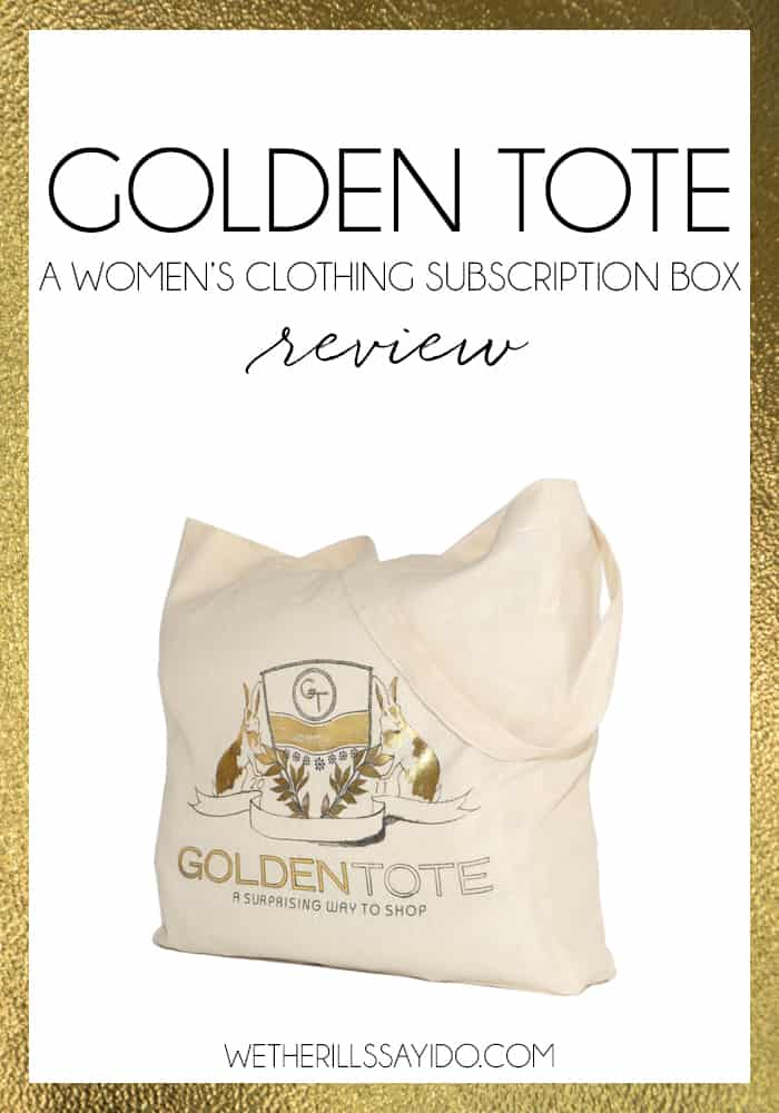 A review of a new women's clothing subscription company called Golden Tote.