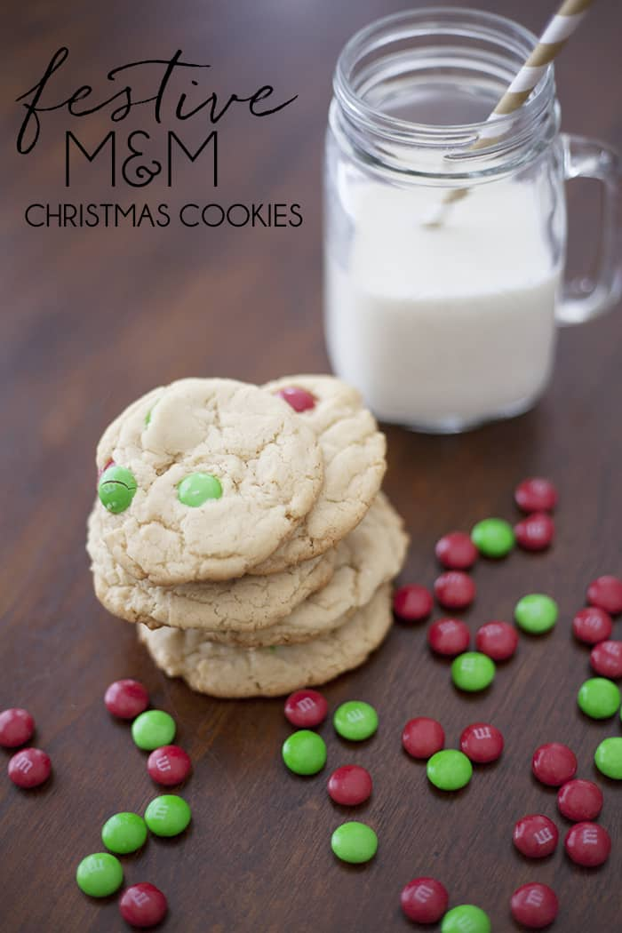 Festive M&M Christmas cookie recipe!