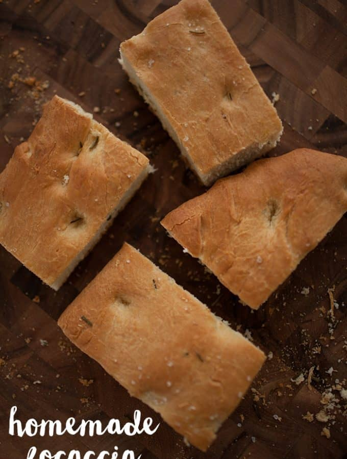 Easy homemade focaccia bread recipe.