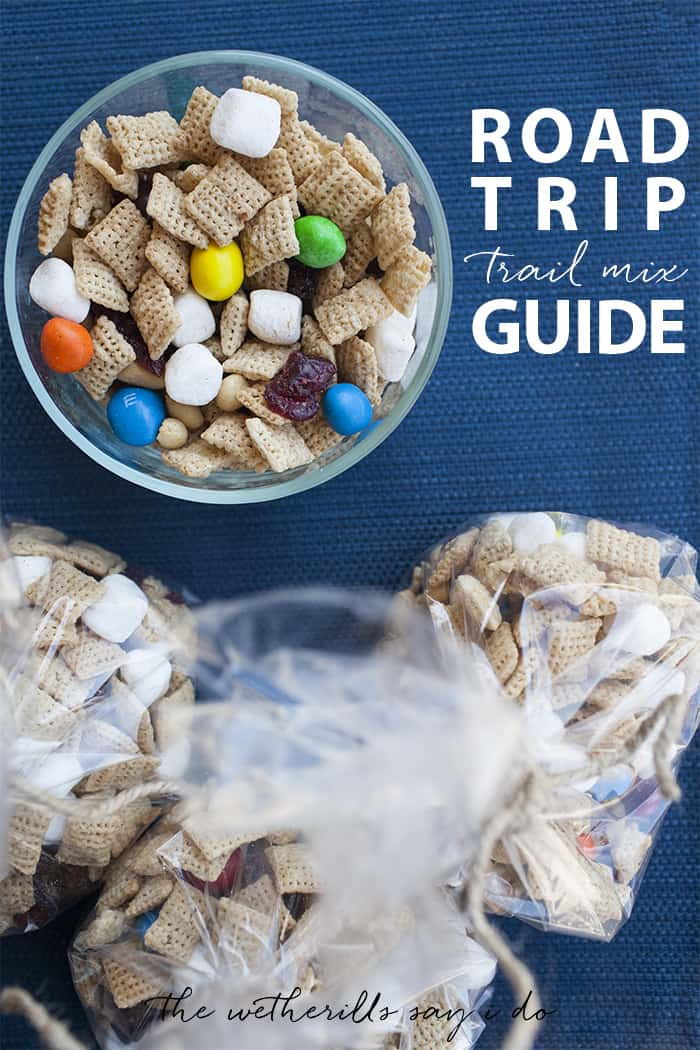 A guide to creating the perfect road trip trail mix. Add in your favorite ingredients and a dash of cinnamon for the perfect road trip snack, so you can avoid eating gas station food. #RoadTripHacks #Albertsons [ad]