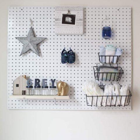 DIY Nursery Peg Board