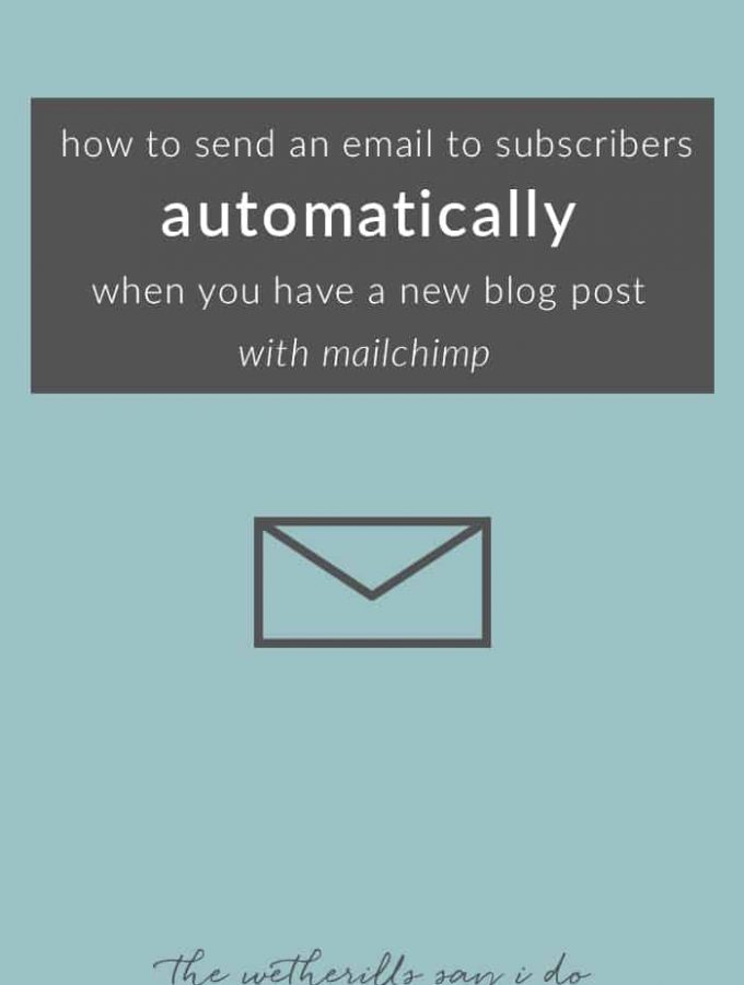 Mailchimp tutorial to automatically send out an email every time you have a new blog post! Keep your subscribers updated with this RSS Feed Newsletter tutorial.