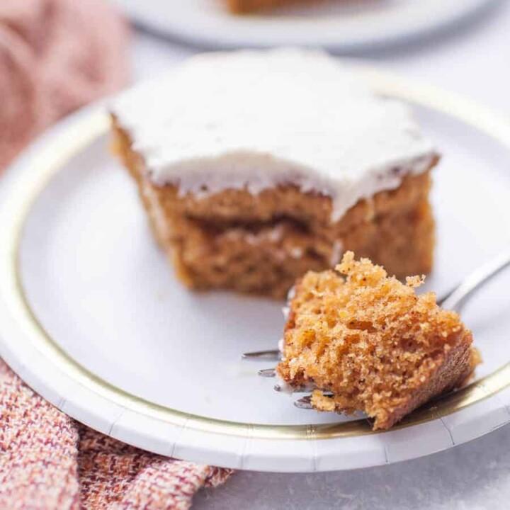 Pumpkin Sheet Cake & Maple Cream Cheese Frosting