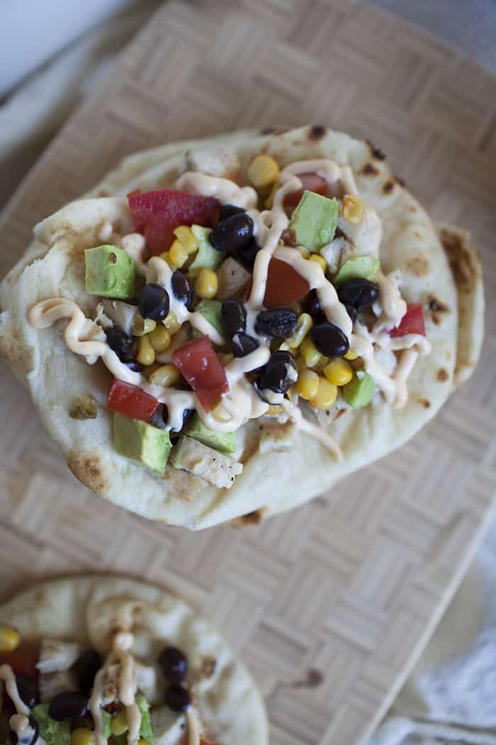 This Mexican style flatbread is super easy and packed with delicious flavors!