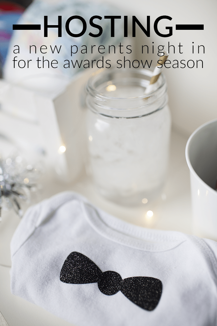 Enjoy the awards show season with other new parents! Your baby will be in style with this DIY baby onesie perfect for watching the awards shows this season!