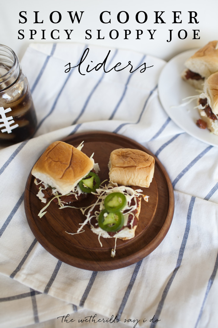 These easy sloppy joe sliders are perfect for game day and can easily be prepared in a slow cooker ahead of time! Make easy game day food with this recipe!