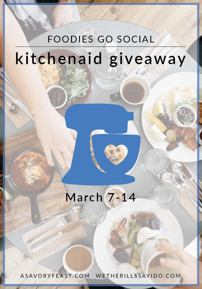 KitchenAid stand mixer giveaway: your chance to add this gorgeous and versatile appliance to your collection.