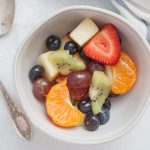 Orange Juice Fresh Fruit Salad is a twist on a classic fruit salad. It's perfect for serving for brunch, showers, or just as a healthy side dish for dinner! Perfect to customize with whatever fruit you have on hand, too!?