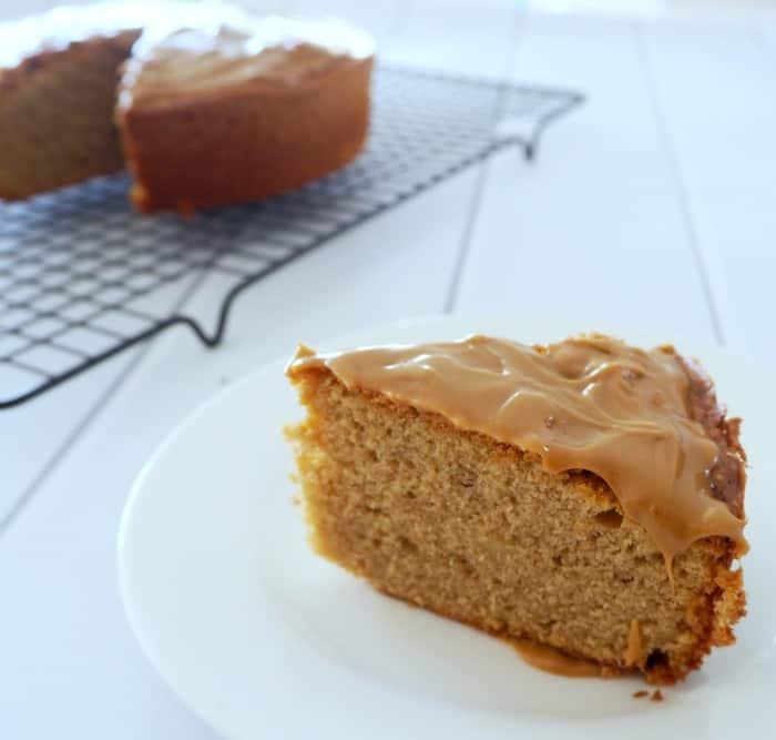Sour cream coffee cake with glaze