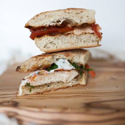 Chicken Pesto Caprese Sandwich