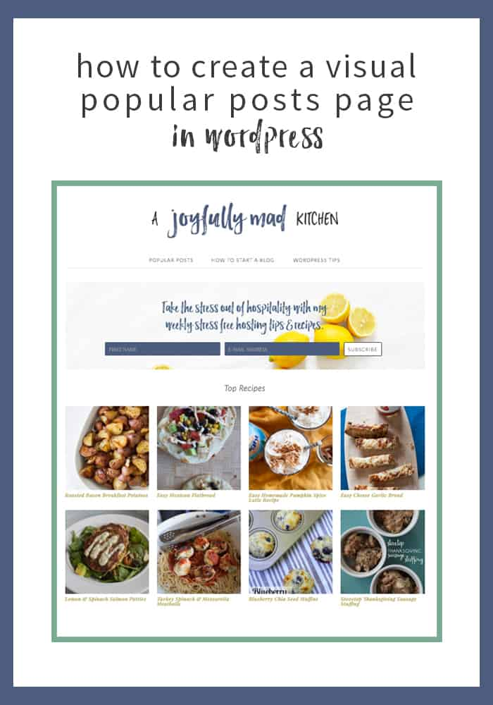 How to create a visual popular posts page with WordPress and the Content Views plugin.