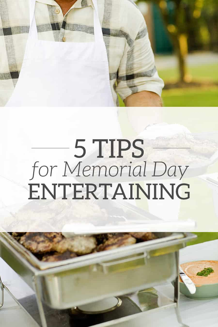 5 tips for Memorial Day entertaining! Make hosting less stressful with these simple hospitality tips.