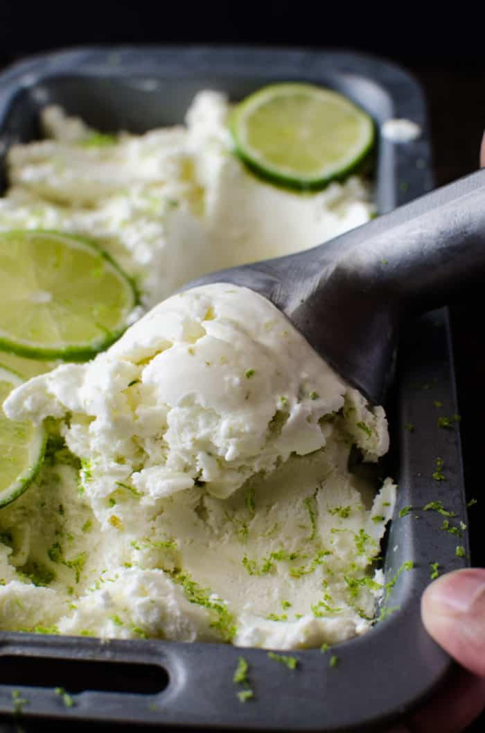 Make this salted lime sherbet this summer!