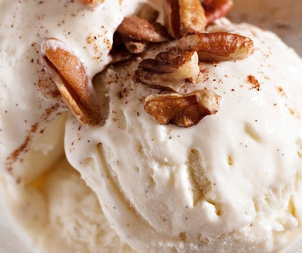 These simple ingredients make this vanilla bean cardamom ice cream so good!