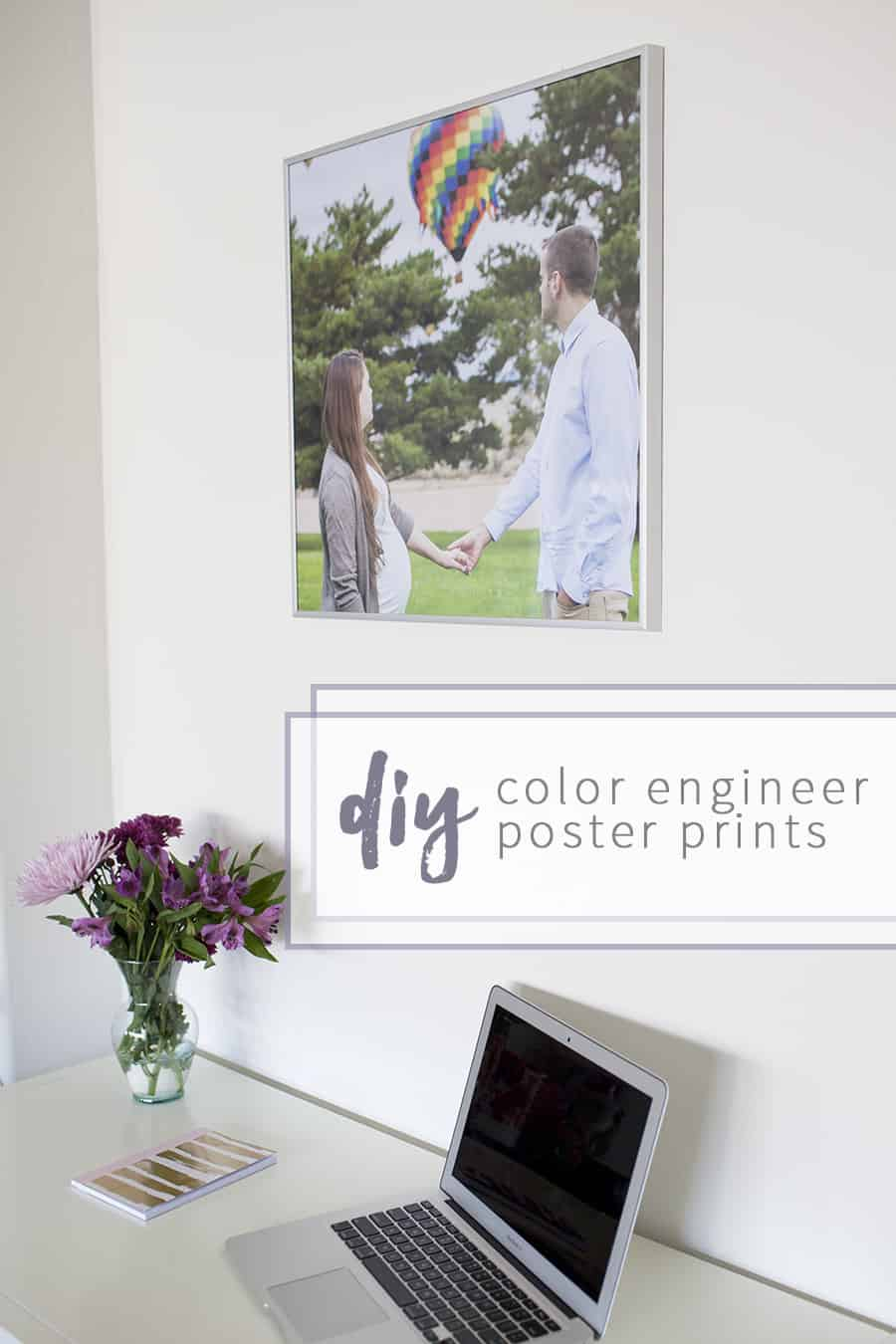 Print oversized, large color photos and frame them for less than $20! Get the tutorial for these color engineer prints.