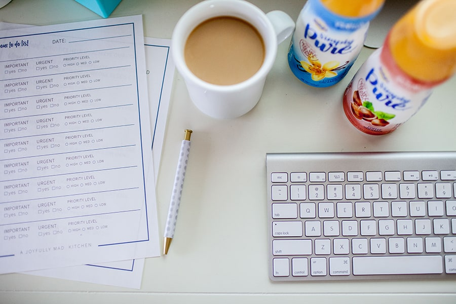 Use these five tips to be more productive with your work breaks! Get a free printable for prioritizing your to do list and being more effective with your time management.