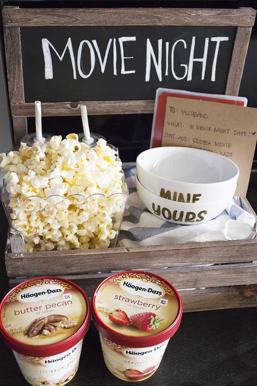 movie night date crate is the perfect way to have a date night at home
