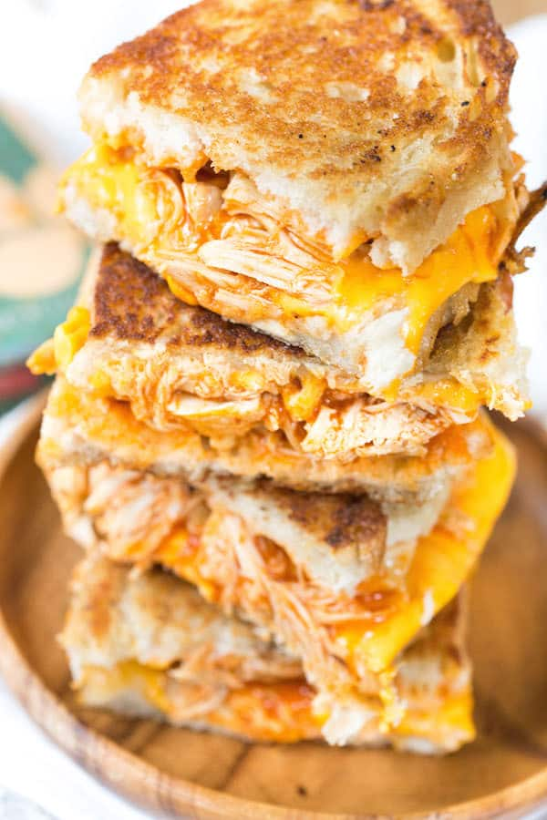 leftover-chicken-recipes-Buffalo-Chicken-Grilled-Cheese-Sandwiches