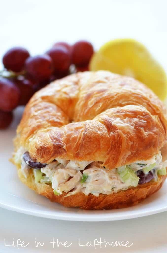leftover-chicken-recipes-Classic-Chicken-Salad-Croissants