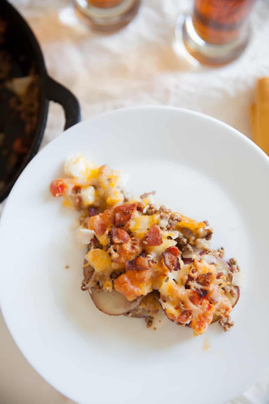 Red skin potato | red skin potato recipe | football food | superbowl recipes | superbowl food | superbowl ideas | nacho recipes | potato nachos | party food | beer food