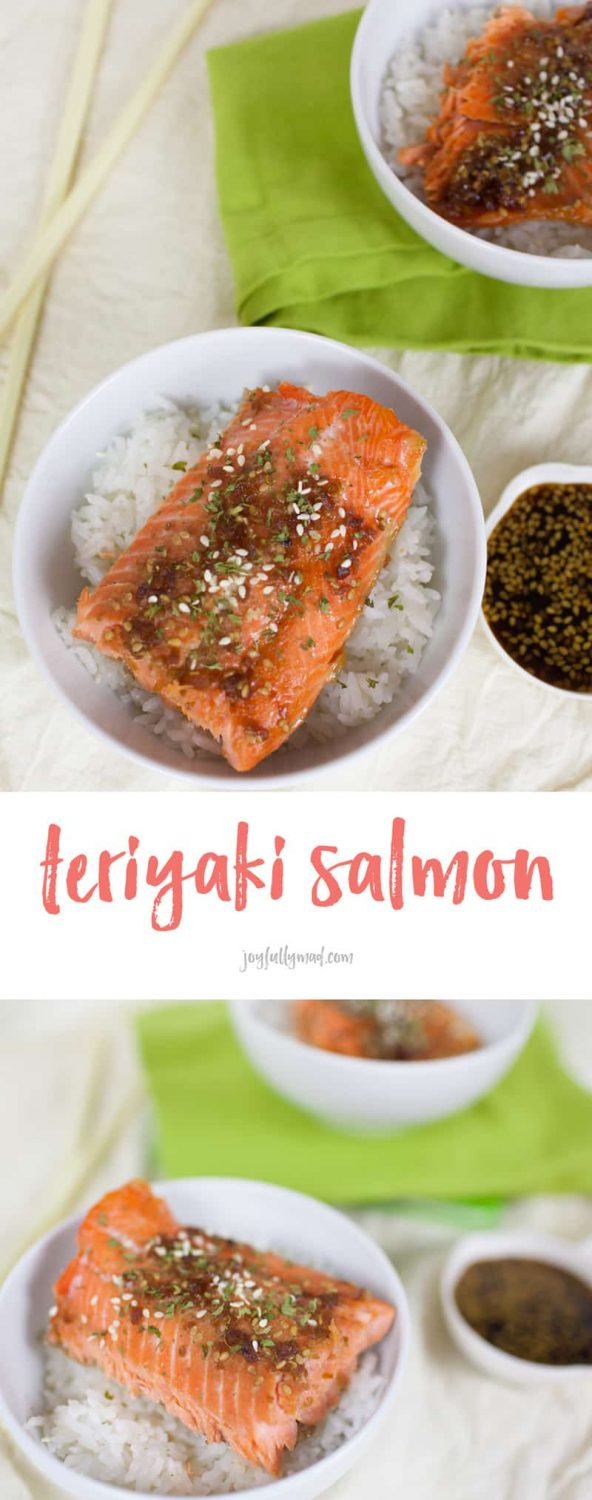 If you're looking for an easy, flavorful dinner idea, this teriyaki glazed salmon is perfect! Served over a bed of white rice, it's a complete meal with huge flavor.