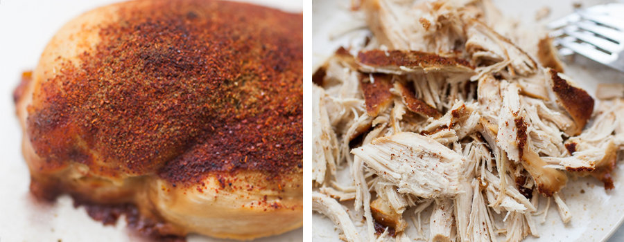 How to slow cook shredded chicken for sliders.
