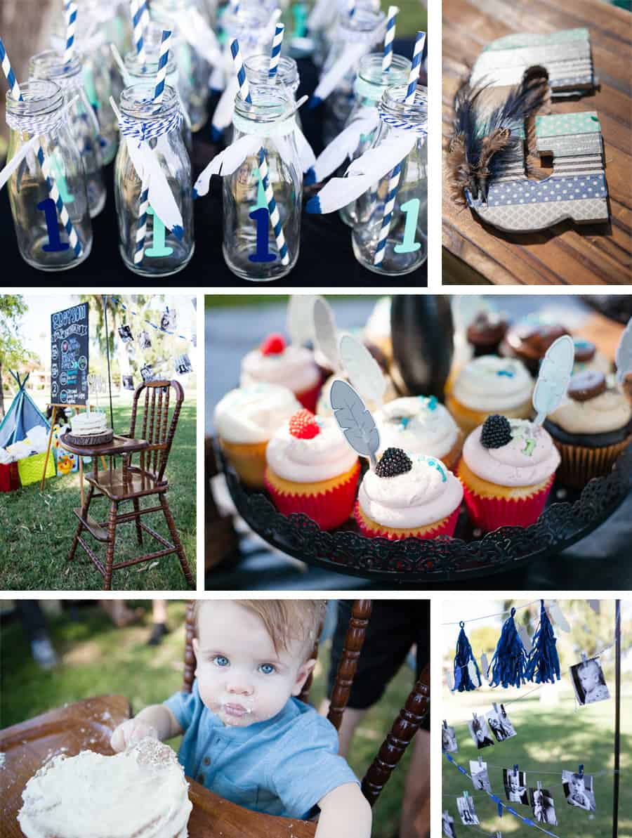 Tribal themed first birthday party.