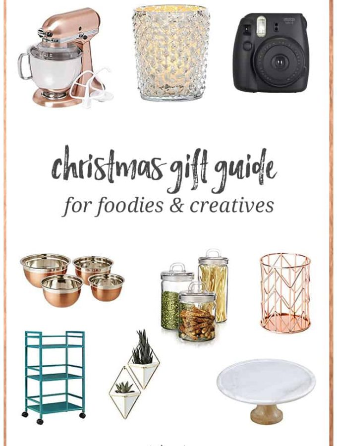 If you're looking for ideas of gifts to ask for for yourself or a feminine entrepreneur, creative, or foodie type, here is a Feminine Christmas Gift Guide for Creatives and Foodies list to get you started!