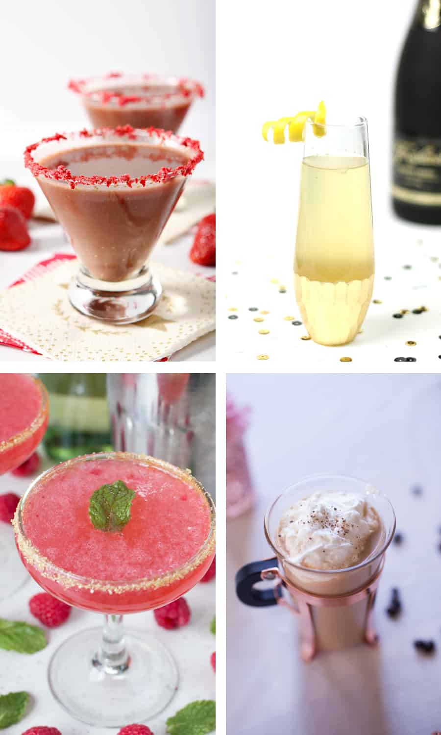 Four fabulous cocktail recipes for your girls' night, cocktail party or New Year's Eve celebration!