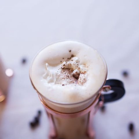 Irish Coffee with Hazelnut Whipped Cream