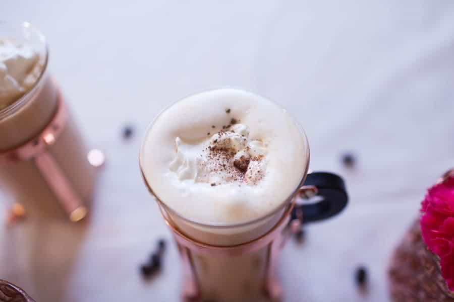 If you love a traditional Irish Coffee, you'll love this hazelnut twist even more! This Irish Coffee with Hazelnut Whipped Cream has hazelnut creamer for a hint of sweetness and is topped with a dollop of homemade hazelnut whipped cream. Sip on this for any holiday morning!