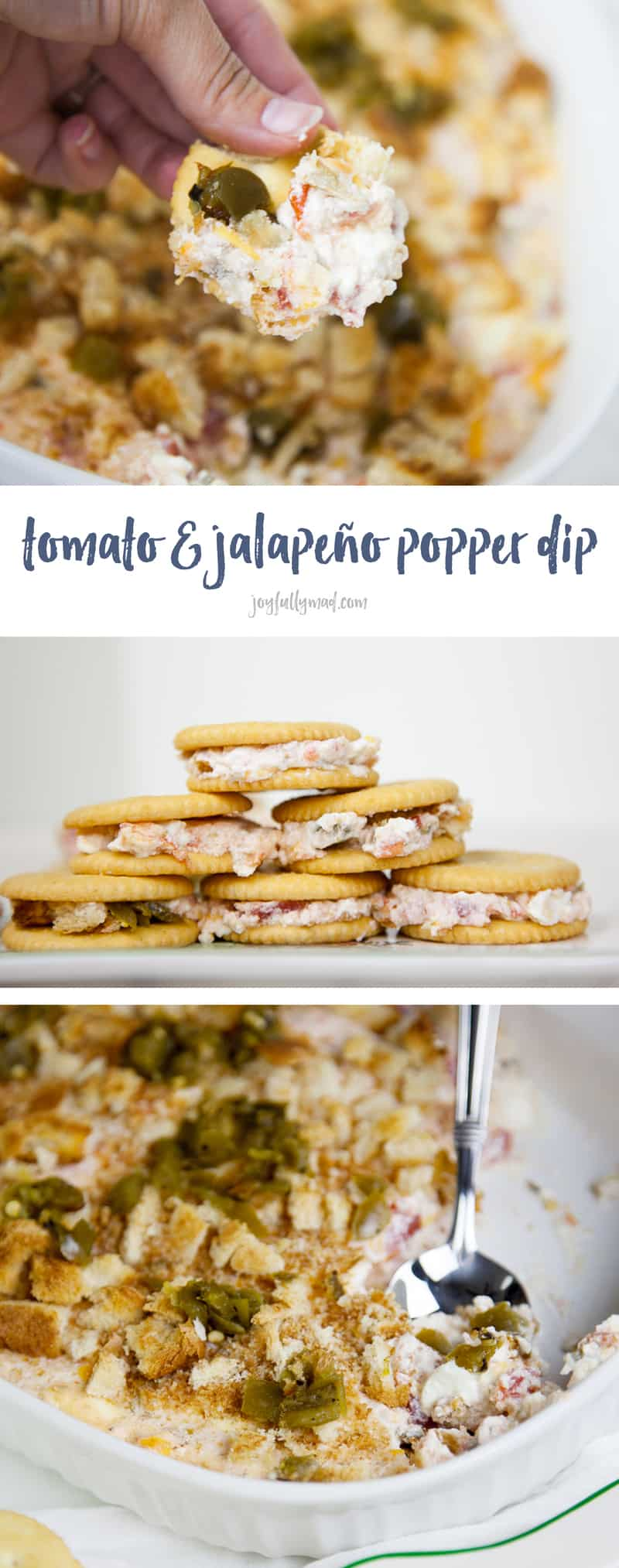 Need a party appetizer for the holidays this year? This quick tomato jalapeño popper dip is the perfect appetizer for those holiday parties!