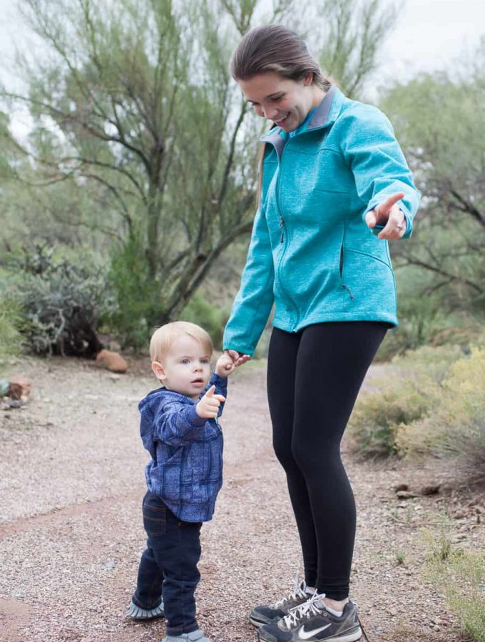 If you love being outside and exploring, you may be hesitant to bring your young infants or toddlers along for the adventure. Below are some tips to help hiking with a toddler or little one be a stress free experience. arizona lifestyle | living in arizona | hiking with toddler | hiking with baby | how to hike with a toddler | hiking tips | hiking with kids