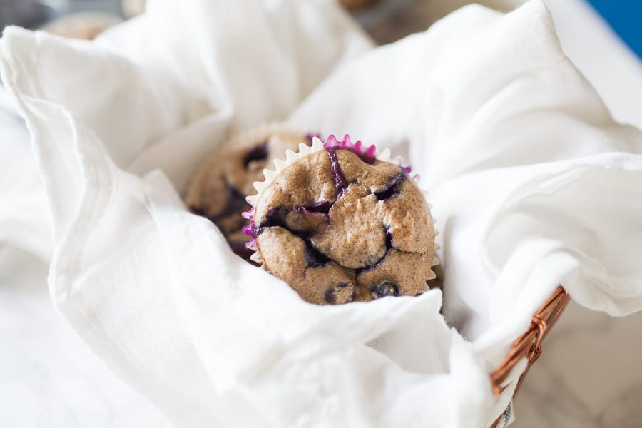 Healthy No Sugar Added Blueberry Muffins
