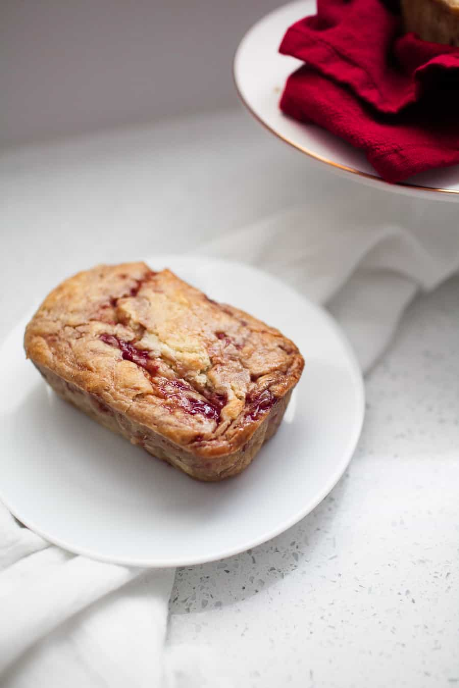 This strawberry jam quick bread is a special treat that the whole family can enjoy! Made with honey sweetened jam, it?s the perfect little indulgence. Make mini loaves and give them as gifts!