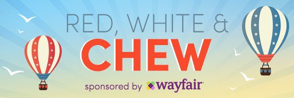 Red, White & Chew blog post sponsored by Wayfair.