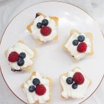 Need an easy and delicious dessert recipe for July 4th? These Double Berry Patriotic Star Cupcakes are fruity, light and perfectly patriotic!?