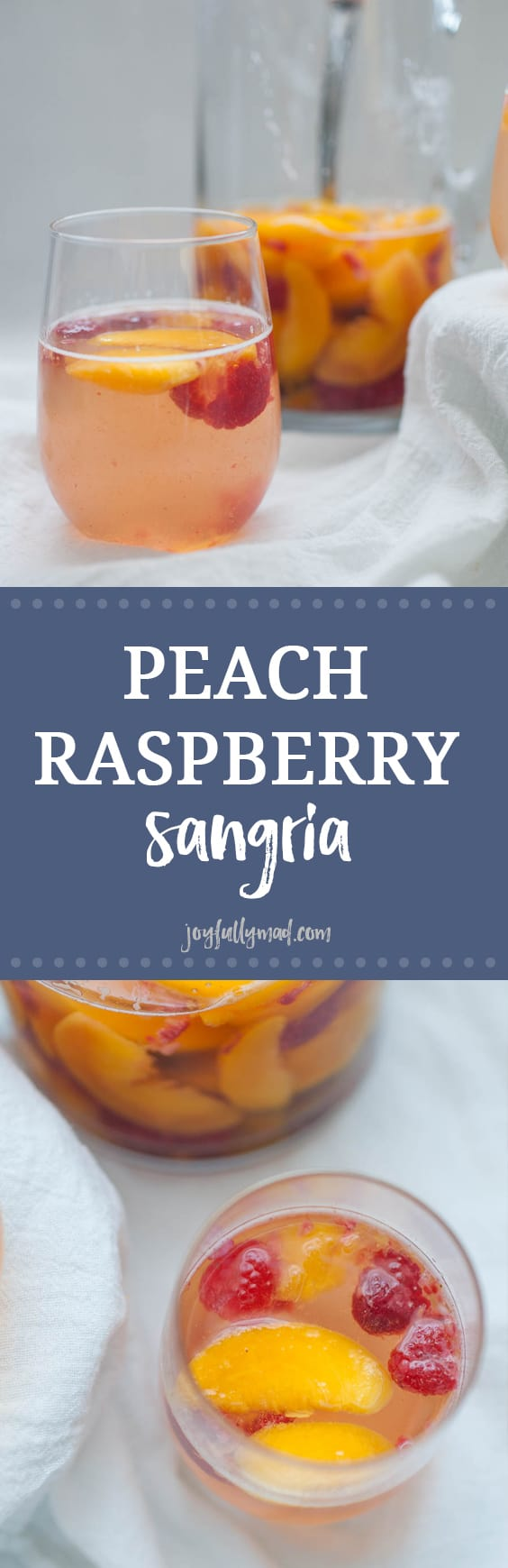 This Peach Raspberry Sangria is going to be the hit of all of your summer get togethers! A simple sangria recipe with peaches, raspberry, Moscato wine and a quick peach simple syrup makes this cocktail irresistible in the summer.?