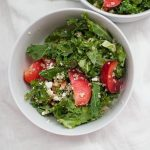 Don't settle for boring salads! This?Plum Quinoa Kale Salad is packed with flavors and textures that will make this your new favorite salad. The salad has a bed of kale, topped with soft quinoa, crunchy and flavorful walnuts and sweet plums and has a simple honey vinaigrette to bring all of the flavors together.