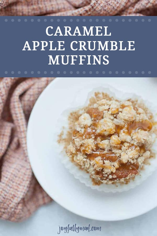 Start your morning with Caramel Apple Crumble Muffins, the perfect morning treat! These apple spice muffins have a simple muffin base with fall spices like ginger, nutmeg and cinnamon added to it. Topped with the perfect crumble topping and caramel drizzle, these muffins will have you wishing for fall year round!?
