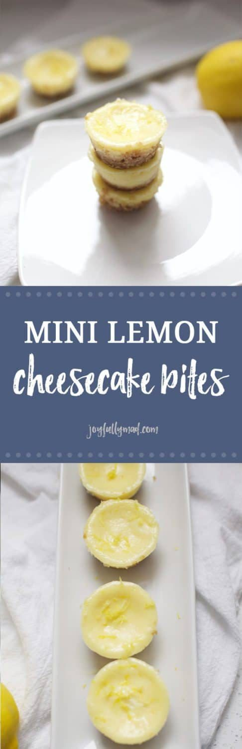 Mini Lemon Cheesecake Bites are the?perfect dessert for a party or gathering! These sweet little bites will not last long at your next gathering. The lemon flavor is light and summery, but perfect for any time of year!