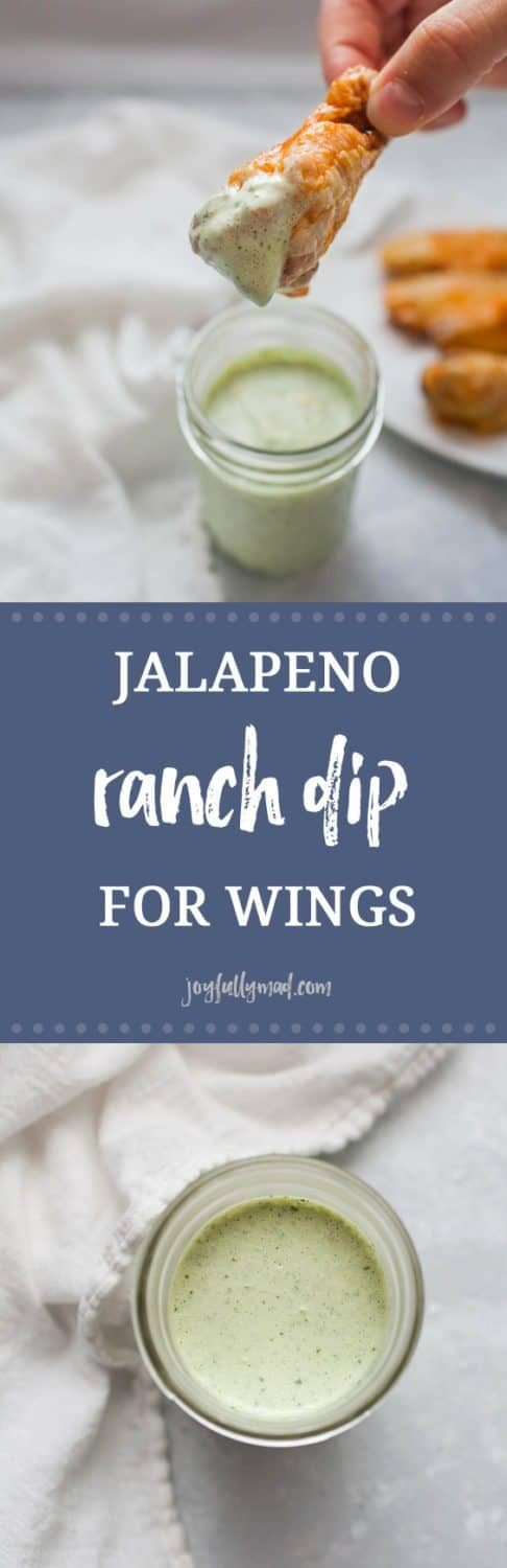 Football season is here! That means it's time for the best football food around. This jalape?o ranch dip is the perfect dip for your homemade or store bought wings. Be warned though, this dip will go fast!
