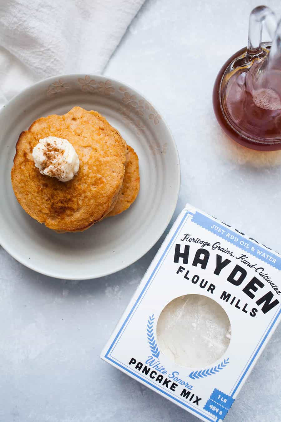 If you love breakfast, you'll love these sweet potato pancakes with whipped maple butter! They're the perfect switch from regular pancakes and have a great sweet potato flavor. Whether or not it's the fall season, these sweet potato pancakes are definitely a must!?