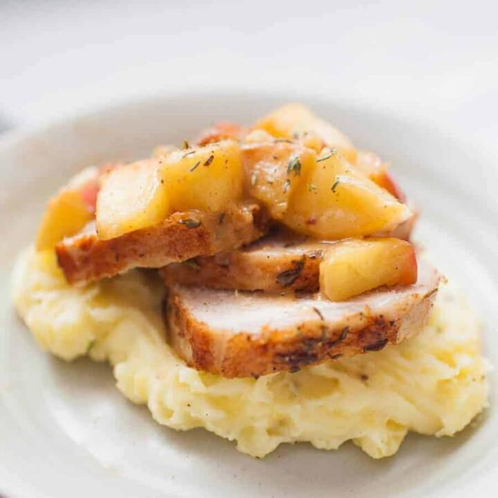 Apple Pan Seared Pork Tenderloin