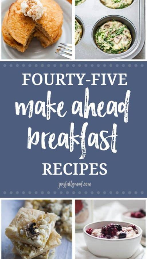 These Make Ahead Breakfast Recipes are sure to make your mornings smoother and certainly more delicious! Everything from make ahead egg casseroles, to make ahead French Toast with breakfast muffin recipes and smoothies in between.