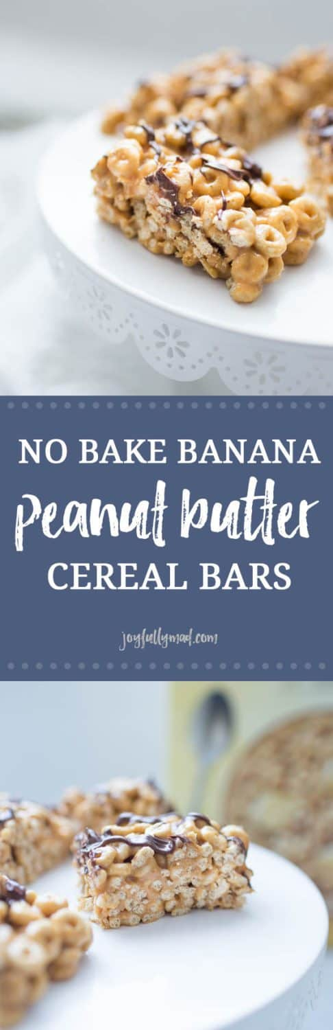 Simplify your breakfast routine with these dangerously yummy No Bake Banana Peanut Butter Cereal Bars. Made with new Banana Nut Cheerios, peanut butter, honey and chocolate drizzle, these no bake cereal bars are super easy to make at the beginning of the week and enjoy on the go! If you're looking for a way to make your mornings simpler, these breakfast bars are the solution!