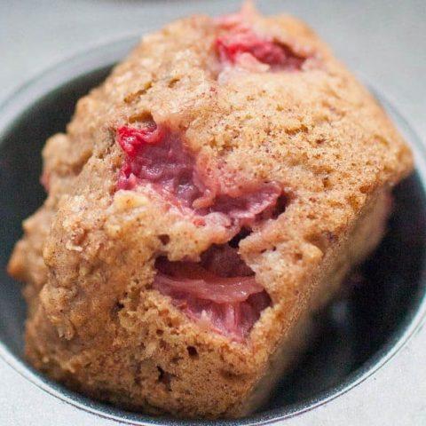 No Sugar Added Strawberry Muffins