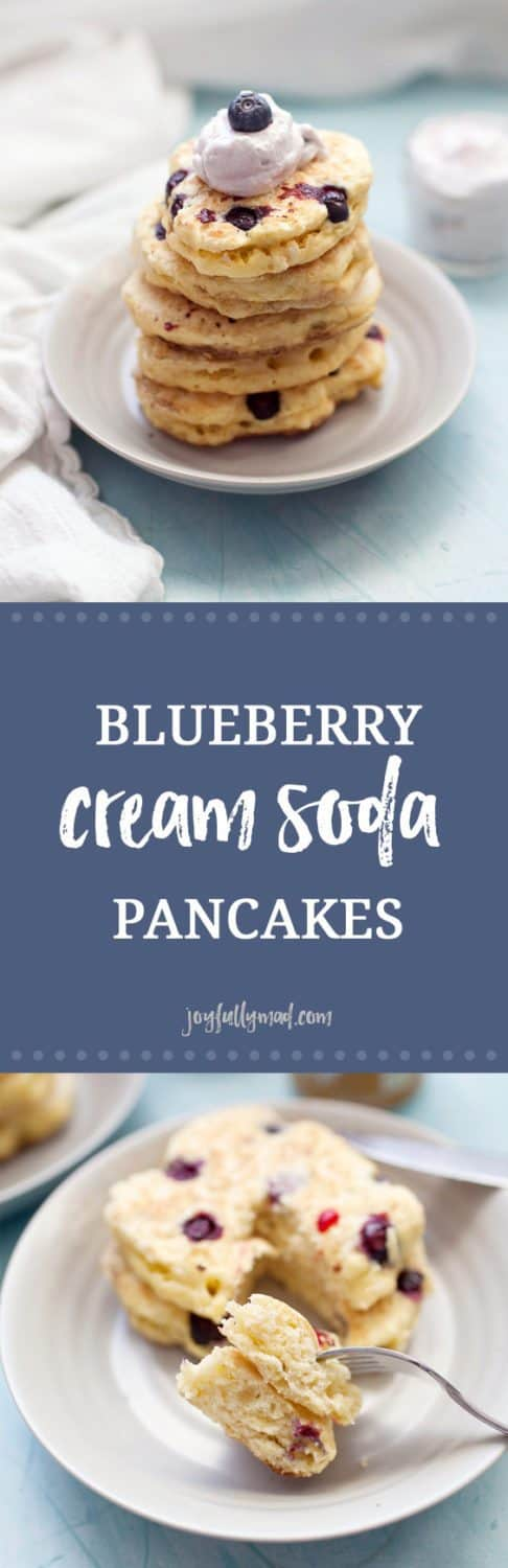 Pancakes made from scratch are the perfect morning breakfast. These blueberry cream soda pancakes are creamy, fluffy and sugar free! Switch up your usual breakfast routine of regular pancakes and make these creamy blueberry ones instead. A simple homemade pancake recipe plus cream soda and blueberries is all you need for a special breakfast treat.?